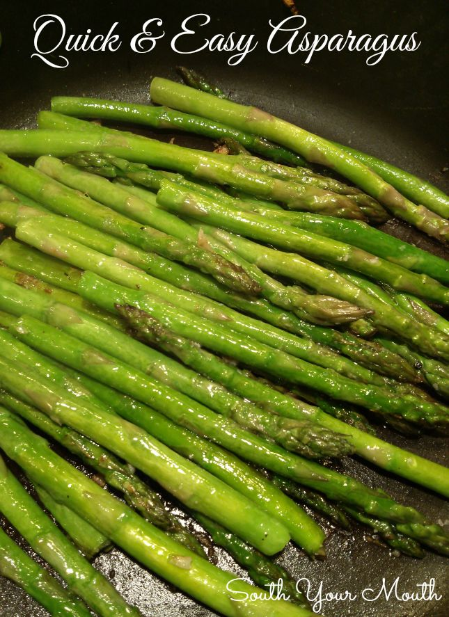 Quick & Easy Asparagus with Garlic and Olive Oil
