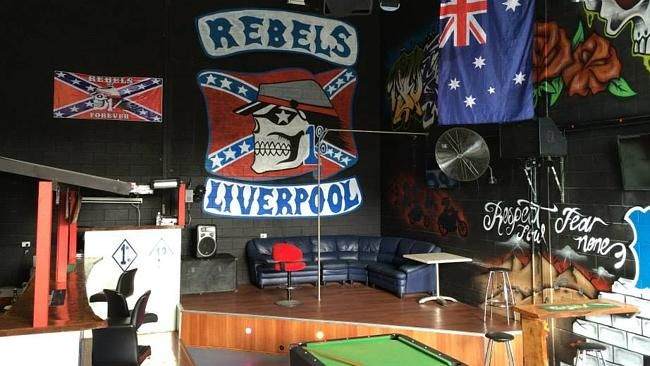 The Warwick Farm clubhouse of the Rebels Liverpool Chapter was dismantled during a raid t