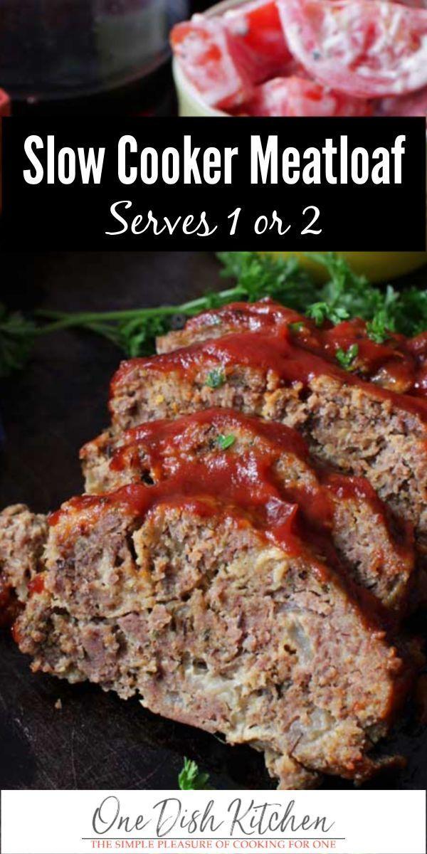 Mini Crockpot Meatloaf Recipe Slow Cooker One Dish Kitchen Recipe In 2020 Crockpot Meatloaf Recipes Slow Cooker Meatloaf