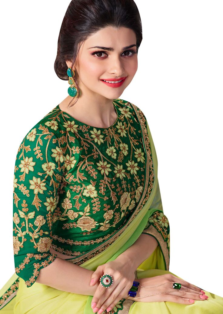 Embroidered party wear saree blouse