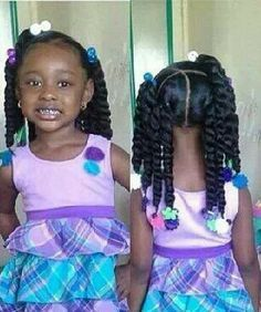 black little girl pigtails pink and black bows - Google Search