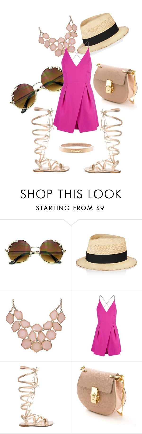 """Kesää odotellessa"" by jiroutconsulting on Polyvore featuring Eugenia Kim, Topshop, Gianvito Rossi, Chloé and Chanel"