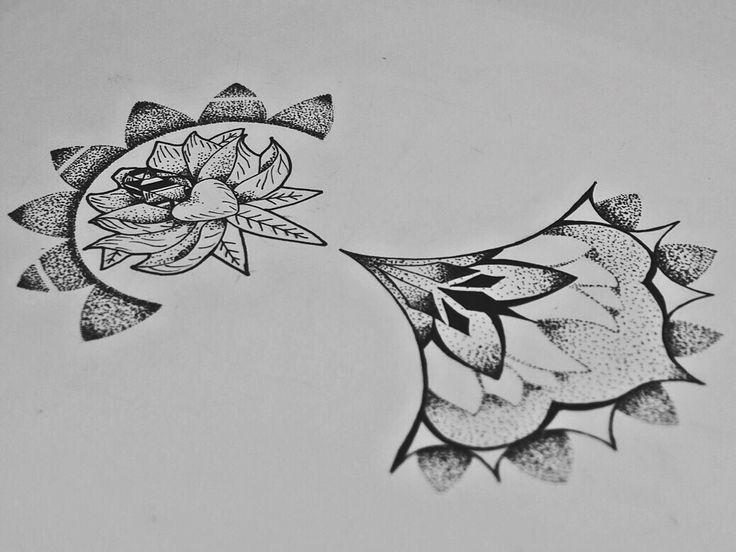 By Irina Vinogradova  Flower art drawing black sketch dotwork