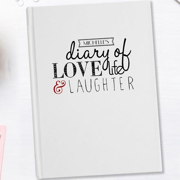 Personalised Diary - Love Life Laughter   GettingPersonal.co.uk