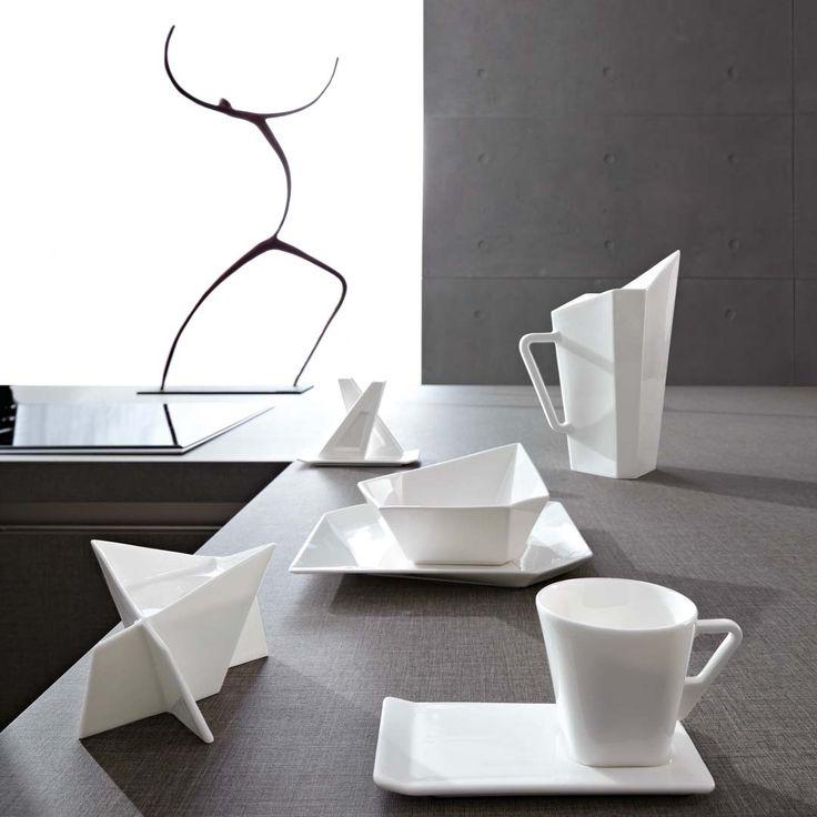 Modern Tableware Design Applying White Color