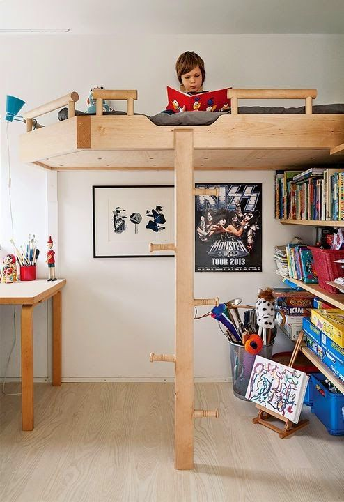 super cool, minimal loft bed