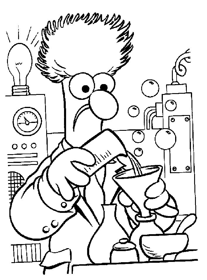 The muppets printable coloring pages for kids adults