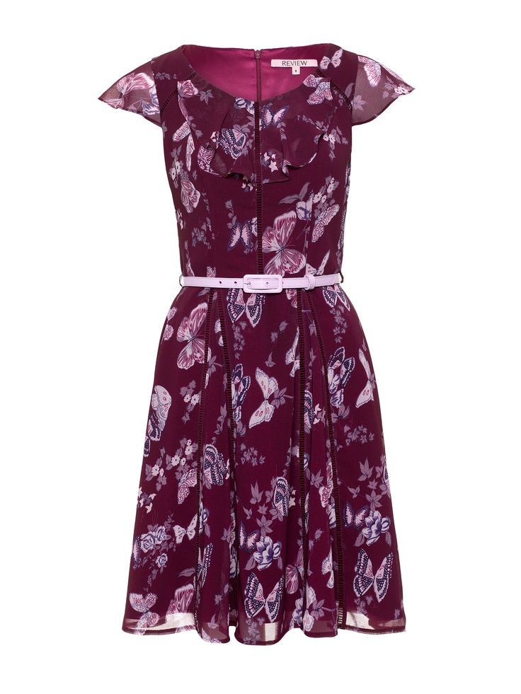 Butterfly Blossom Dress | Wine & Blush | Dresses