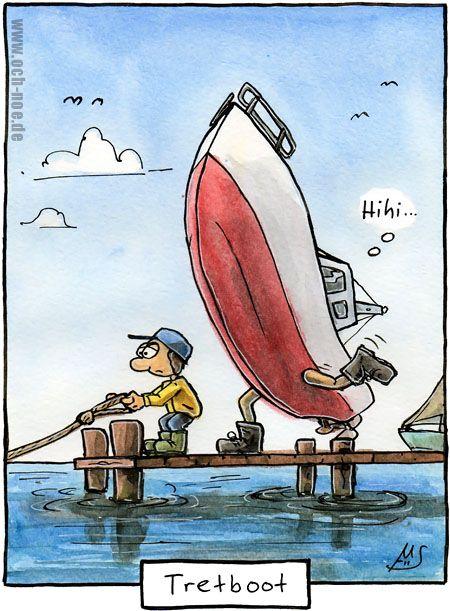"""""""Tretboot""""  -  www.och-noe.de - Cartoons"""