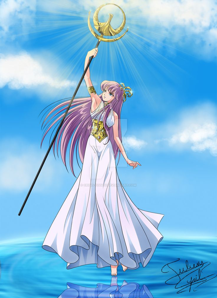 Goddess Athena Saori Kido Saint Seiya by Crisis-Cissou.deviantart.com on @DeviantArt