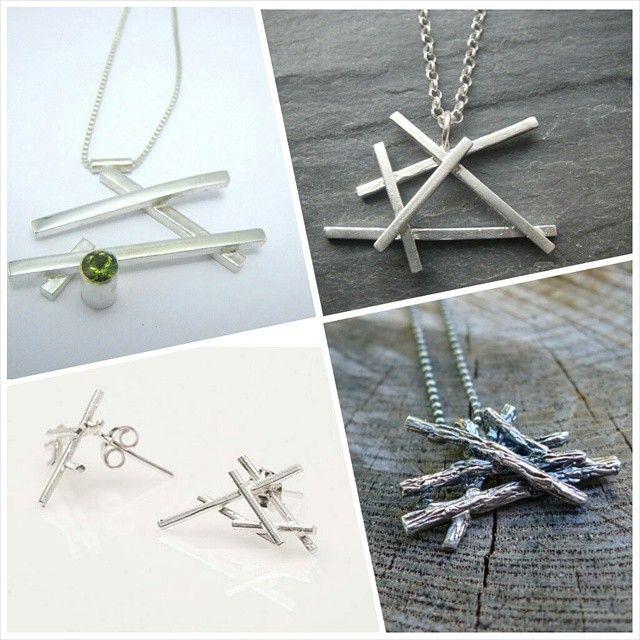 A rough evolution of the Slashpile by Slashpile Designs! #treeplanting #necklace #slashpile #slashpiledesigns #silver #jewellery