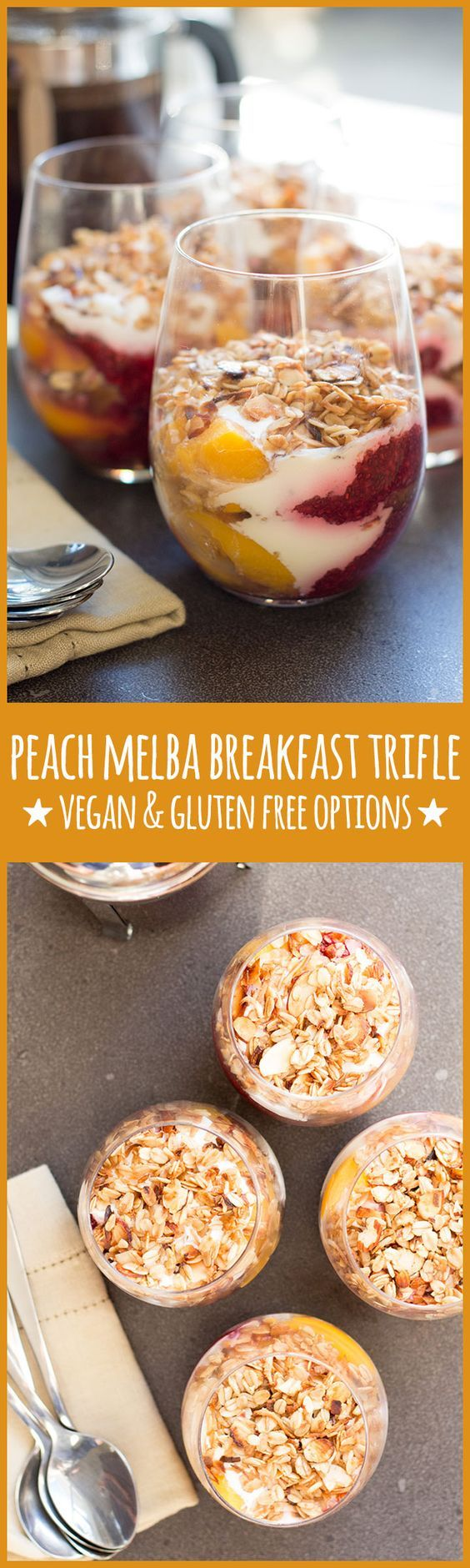 peach melba breakfast trifle
