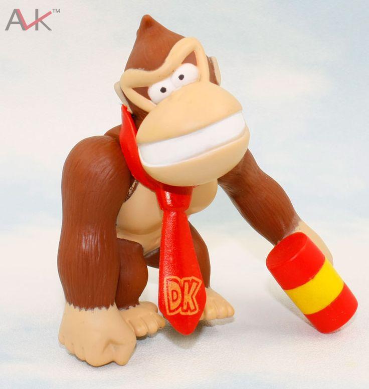Горячая распродажа! Супер марио орангутанг донки конг молоток 10 см пвх фигурку куклы классические фильмы и тв игрушки и хобби