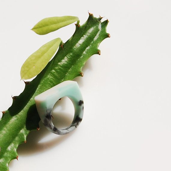 Marble Ring / size US 7 by Monopolka on Etsy