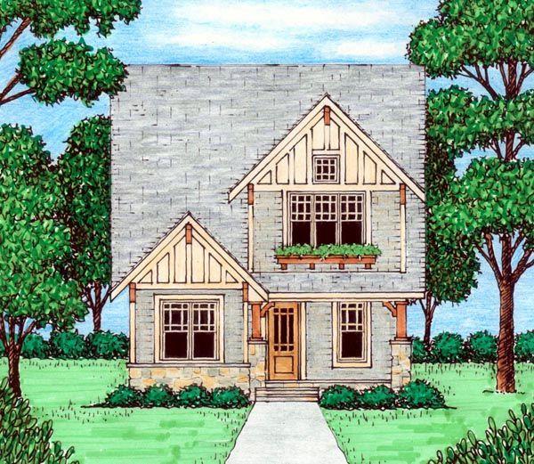N Bungalow Elevation Plan Roof : Bungalow craftsman tudor house plan nd floor