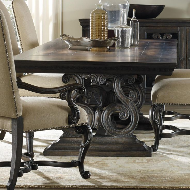 davalle rectangle dining table by hooker furniture - Magnussen Dining Room Furniture