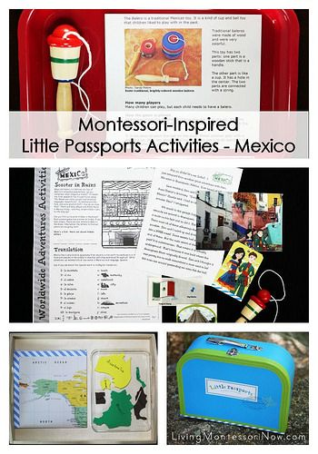 Montessori-inspired Little Passports Mexico activities and extensions for a number of ages