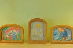 wooden frames for postcard art
