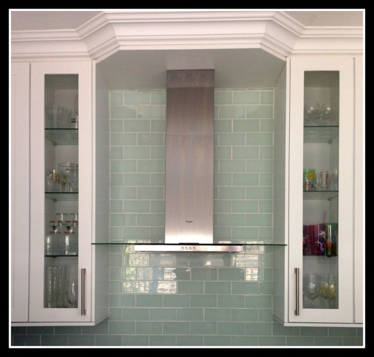 deco kitchen with glass tiles