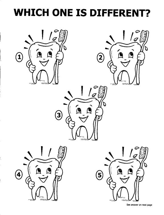 Coloring Pages Teeth And Coloring On Pinterest