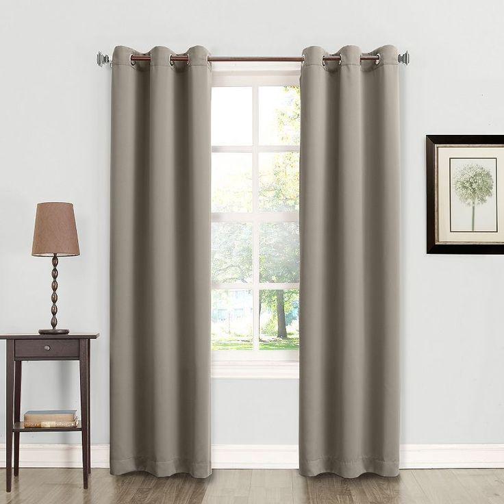 Sun Zero Talita Room Darkening Curtain, Grey
