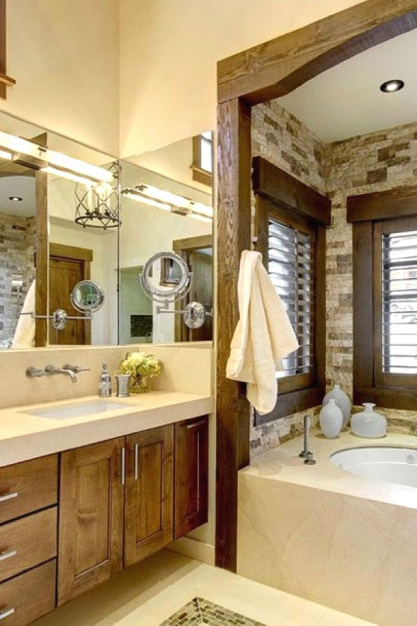 29 Easy Rustic Style Bathroom Lighting