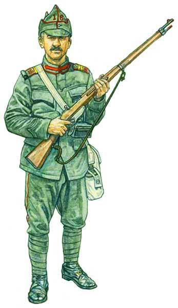 Romanian Army 1913, infantry corporal, pin by Paolo Marzioli