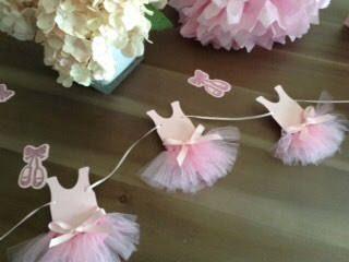 Ballerina Garland  Tutu Garland  Ballet Party Decor