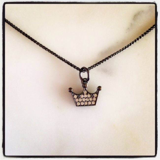 Necklace from Chain from silver with a Crown as our company logo Crystal Queen with zircon Price: 28€