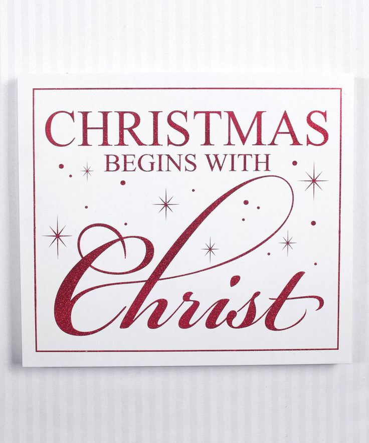 Love this Red Stars 'Christmas Begins with Christ' Wall Sign by Adams ...