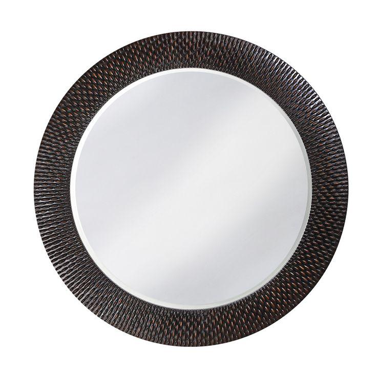 "Howard Elliott Bergman Black Round Mirror - Small 32"" Diameter x 1"""