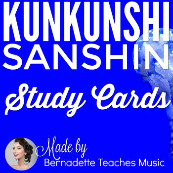 The Sanshin (三線), a 3-stringed instrument from Okinawa, uses a completely different music notation system. This notation system is named Kunkunshi and it involves reading Kanji characters. These study cards are for anyone who would like to practice learning how to read kunkunshi 工工四.