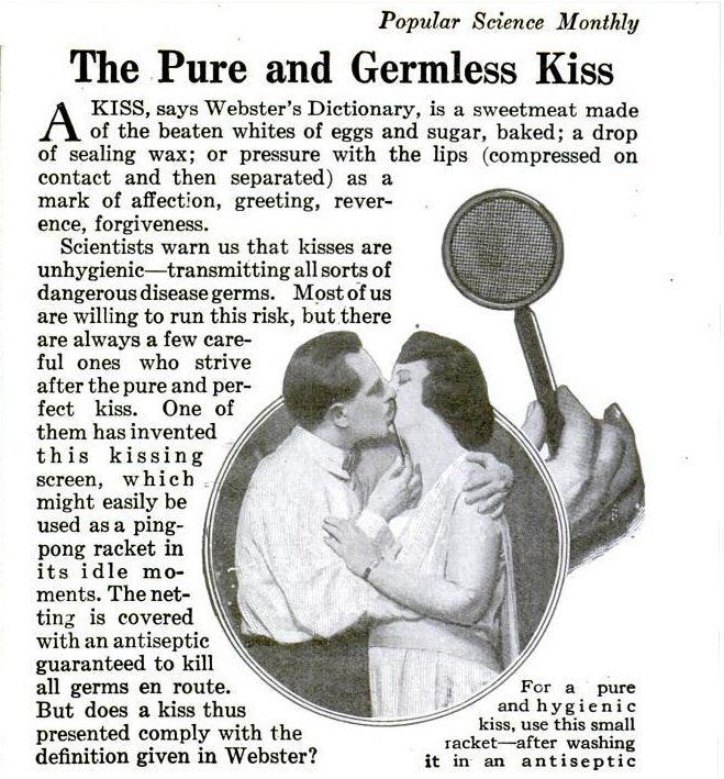 1920: A pure and germless kiss