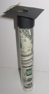 Cute way to give cash as a graduation gift.