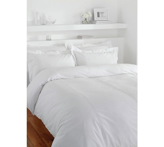 Buy Minimalist White King Size Duvet Set at Argos.co.uk, visit Argos.co.uk to shop online for Duvet cover sets, Bedding, Home and garden