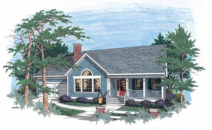 Home Plan HOMEPW17757 - 1927 Square Foot, 3 Bedroom 2 Bathroom Country Home with 2 Garage Bays | Homeplans.com