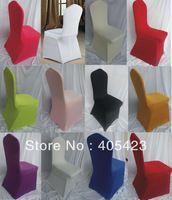 Livraison gratuite 100 pcs/lote banquet de mariage couverture de chaise de spandex avec beaucoup de couleurs