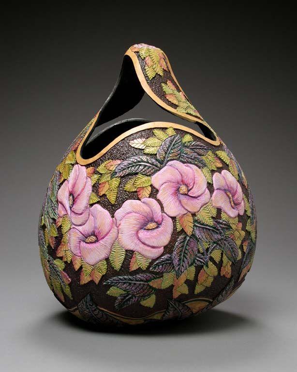 Gourd Carving Art by Artist Marilyn Sunderland http://www.marilynsunderlandstudio.com/gallery/