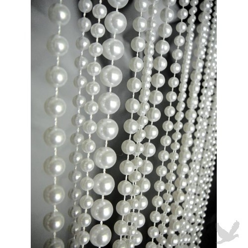 Charming From Another Pinner: 3u0027 X 6u0027 Foot Beaded Curtain Panels   Pearl Ballchain