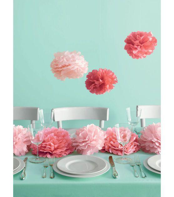 Pink Pom Poms | @Martha Stewart Crafts Pom Poms | DIY Wedding Ideas from Joann.com