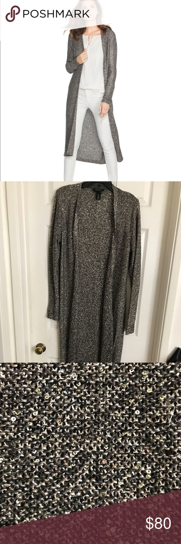 🌟NEW ITEM🌟 BNWT Shimmer Duster ❄️ BNWT ❄️ Wrap yourself in a lush, shimmery duster this season. The relaxed open front makes it an effortless layering piece, and the easy care makes it a go-to piece to keep warm in the cold months. Beautiful fabric! Never worn. I looked it over thoroughly and there is one small snag on the back right shoulder. It's shown in pic 6 and just below shows it zoomed in. No other flaws. Polyester/cotton/acrylic/metallic. Machine wash, cold. Smoke and pet free…