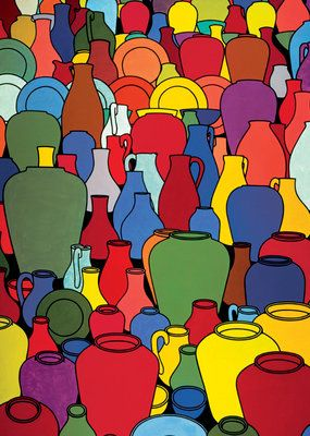 Pottery, 1969 by  Patrick Caulfield