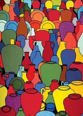 Pottery, 1969 by Patrick Caulfield