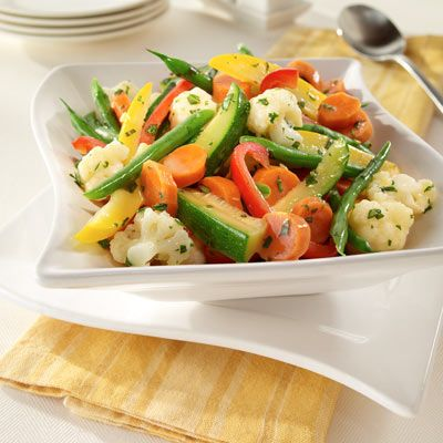 These steamed vegetables are easy and so yummy. Everyone in the family will like them -- even the picky eaters.