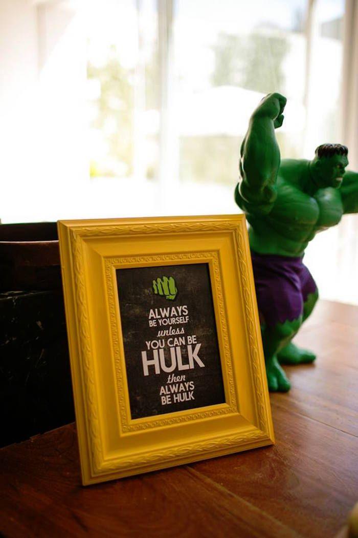 Sign from an Incredible Hulk Themed Birthday Party via Kara's Party Ideas KarasPartyIdeas.com (18)