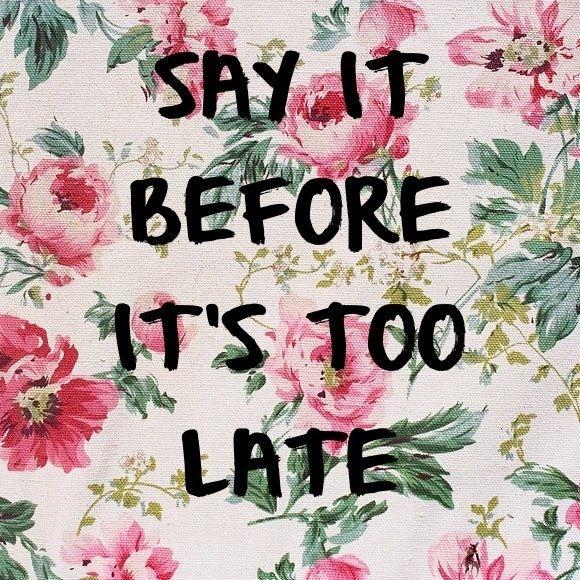 Say it!!