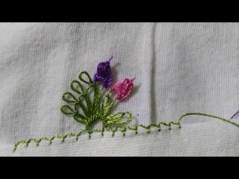 İğne Oyası Havlu Kenarı Yapılışı - YouTube