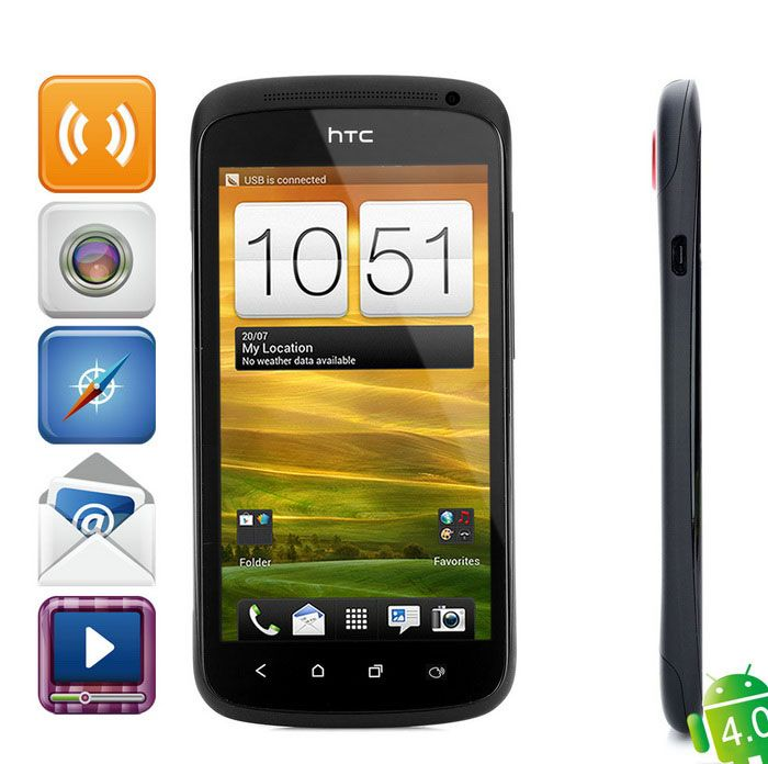 "HTC ONE S(Z560e) 4.3"" Android Bar Phone w/ 1GB RAM, 16GB ROM - Black"