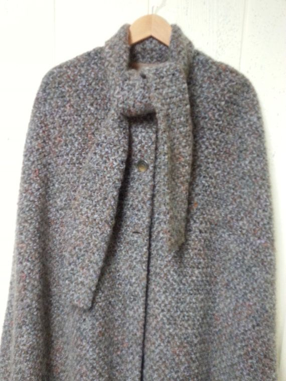 MJ Seattle Cape company mohair cape size small by vitch on Etsy