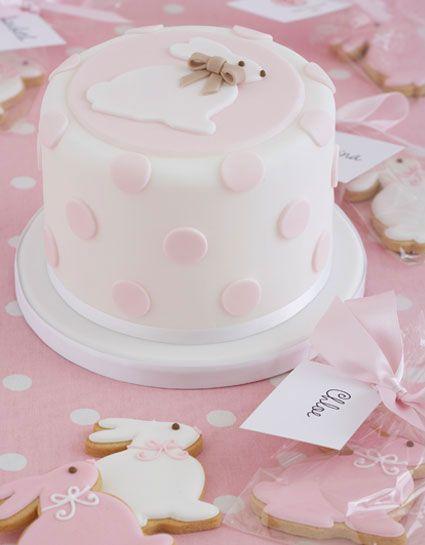 Pink polka dots, bunnies...just simply adorable.